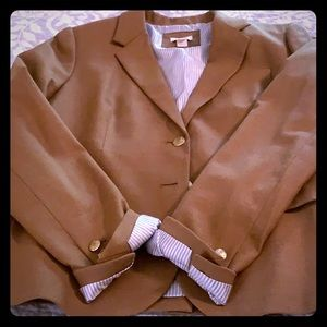 J. Crew Camel Wool Suit Jacket